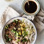 Plant Based Teriyaki Bowl with Wild Rice - Foodness Gracious