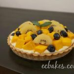 Mango Tart with Dark Chocolate Mousse and Vanilla Bean Pastry Cream  芒果撻配朱古力慕絲和卡士達醬– EC Bakes 小意思