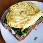 Work from Home Lunch: Egg Toast with Sautéed Arugula – Claire Aucella